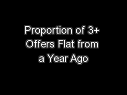 Proportion of 3+ Offers Flat from a Year Ago