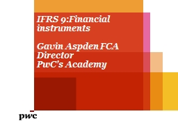 IFRS 9:Financial instruments