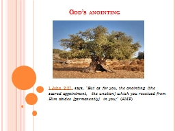 God's anointing