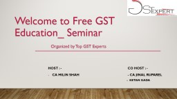 Welcome to Free GST Education_ Seminar