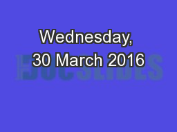 Wednesday, 30 March 2016