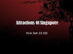 Attractions Of Singapore