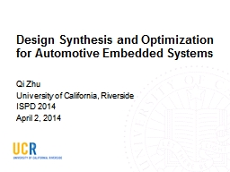Design Synthesis and Optimization for Automotive Embedded S