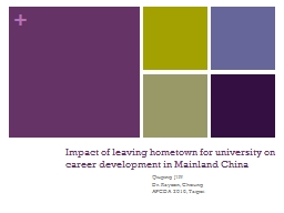 Impact of leaving hometown for university on career develop