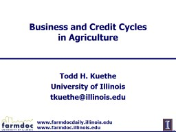 Business and Credit Cycles