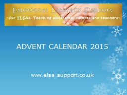 www.elsa-support.co.uk PowerPoint PPT Presentation