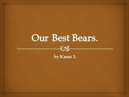 Our Best Bears.