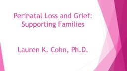 Perinatal Loss and Grief: PowerPoint PPT Presentation