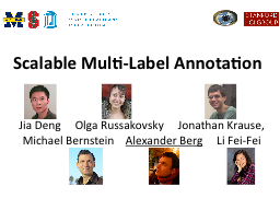 Scalable Multi-Label Annotation PowerPoint PPT Presentation