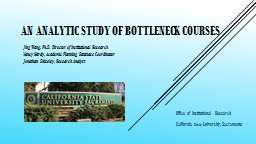 An Analytic Study of Bottleneck Courses