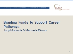 Braiding Funds to Support Career Pathways