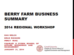 Berry Farm Business Summary PowerPoint PPT Presentation