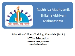 Education Officers Training,