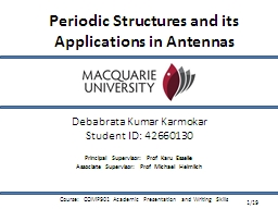 Periodic Structures and its Applications in Antennas PowerPoint PPT Presentation