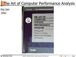 The Art of Computer Performance Analysis PowerPoint PPT Presentation