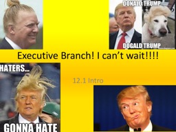 Executive Branch! I can't wait!!!!