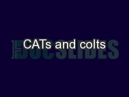 CATs and colts