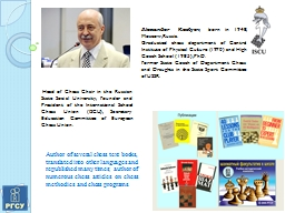 Head of Chess Chair in the Russian State Social Universit PowerPoint PPT Presentation