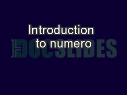 Introduction to numero