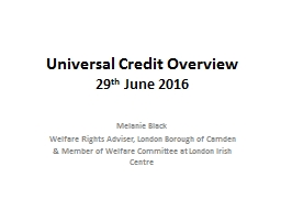 Universal Credit Overview