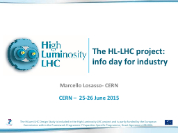 The HL-LHC project: info day for industry