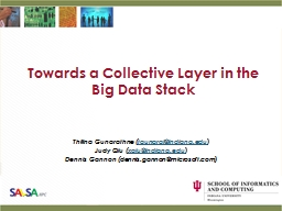 Towards a Collective Layer in the Big Data Stack