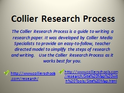 Collier Research Process