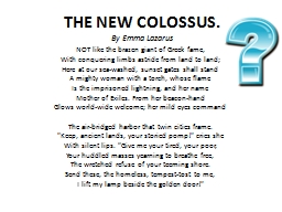 THE NEW COLOSSUS.