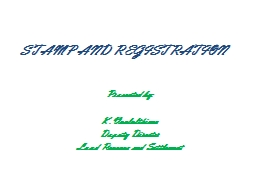 STAMP AND REGISTRATION PowerPoint PPT Presentation