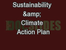 Sustainability & Climate Action Plan