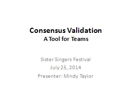 Consensus Validation