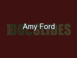 Amy Ford