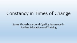 Constancy in Times of Change PowerPoint PPT Presentation