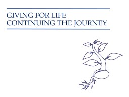 GIVING FOR LIFE PowerPoint PPT Presentation
