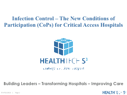 Infection Control – The New Conditions of Participation (