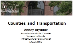 Counties and Transportation
