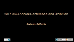 2017 USSD Annual Conference and Exhibition PowerPoint PPT Presentation