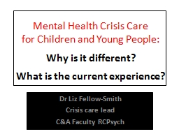 Mental Health Crisis PowerPoint PPT Presentation