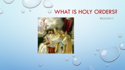 What is Holy Orders?