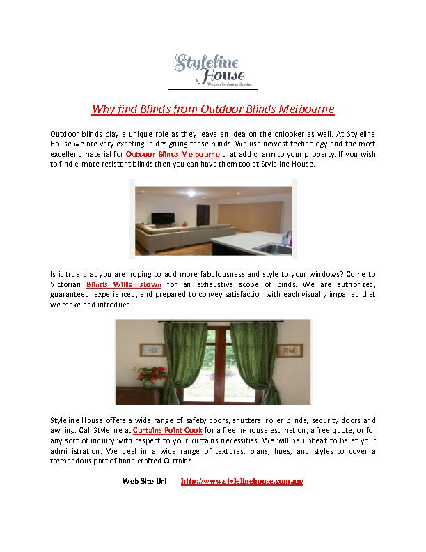 Why Find Blinds from Outdoor Blinds Melbourne