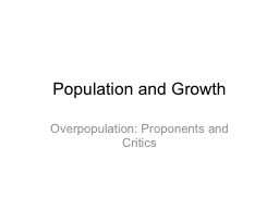 Population and Growth PowerPoint Presentation, PPT - DocSlides