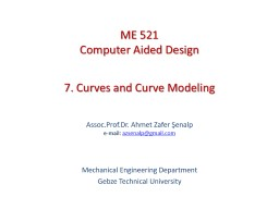 7. Curves and Curve Modeling