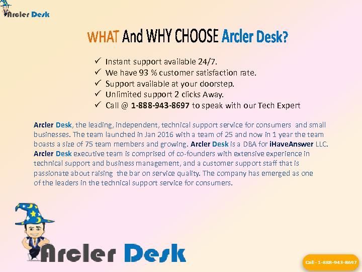 Arcler Desk PowerPoint PPT Presentation