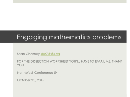 Engaging mathematics problems PowerPoint PPT Presentation