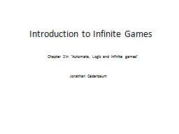 Introduction to Infinite Games