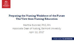 Preparing the Nursing Workforce of the Future PowerPoint PPT Presentation