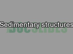 Sedimentary structures PowerPoint PPT Presentation