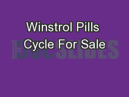 Winstrol Pills Cycle For Sale