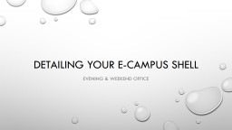 Detailing Your e-Campus Shell
