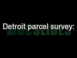 Detroit parcel survey: